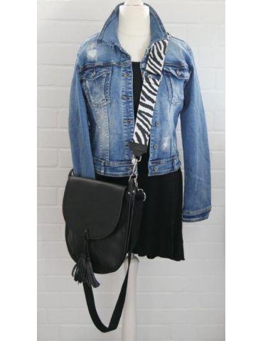 Damen Echt Leder Tasche Schultertasche schwarz...