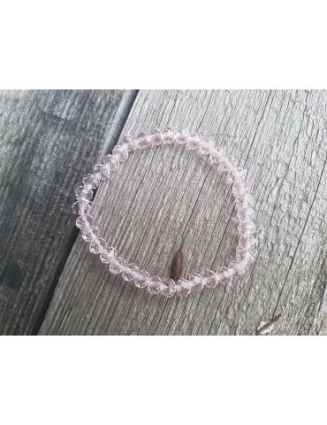 Bijoux Armband Kristallarmband Perlen hell rose klar groß Glitzer Schimmer elastisch