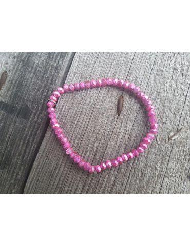 Bijoux Armband Kristallarmband Perlen pink grau klein Glitzer Schimmer elastisch