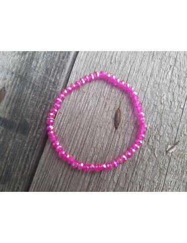 Bijoux Armband Kristallarmband Perlen pink klein Glitzer Schimmer elastisch