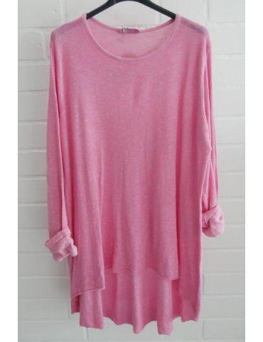 ESViViD Damen Tunika Shirt A-Form pink langarm Baumwolle Onesize ca. 38 - 44