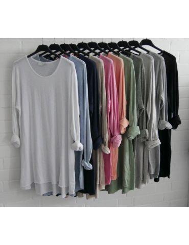 ESViViD Damen Tunika Shirt A-Form lachs langarm...