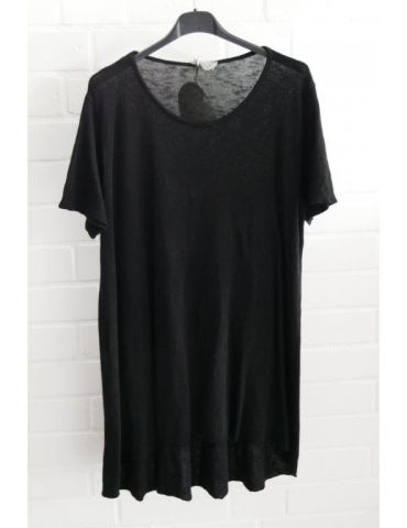ESViViD Damen Tunika Shirt A-Form schwarz black kurzarm Baumwolle Onesize ca. 38 - 44