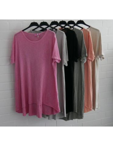 ESViViD Damen Tunika Shirt A-Form pink kurzarm...