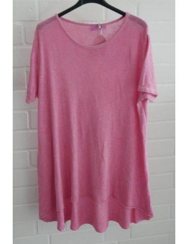 ESViViD Damen Tunika Shirt A-Form pink kurzarm Baumwolle Onesize ca. 38 - 44