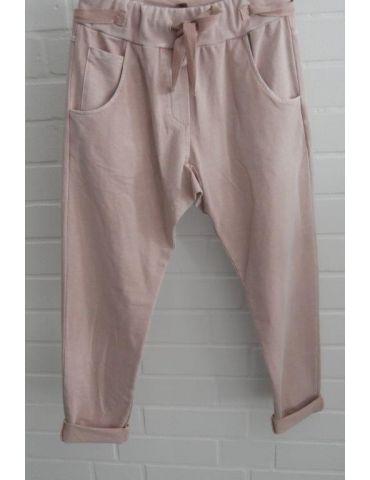 Wendy Trendy Jogginghose JogPants Damenhose Hose rose rosa verwaschen mit Verstellband