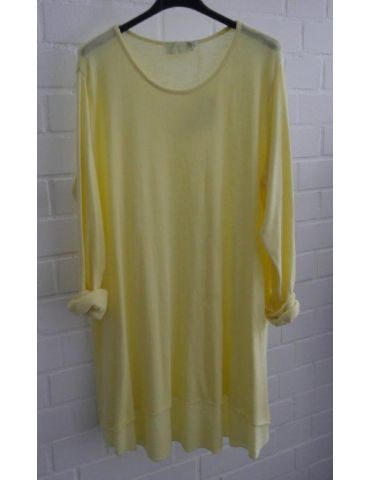 ESViViD Damen Tunika Shirt A-Form gelb langarm Baumwolle Onesize ca. 38 - 44