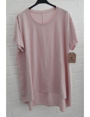 Damen Shirt A-Form kurzarm rose rosa Baumwolle Onesize ca. 38 - 46
