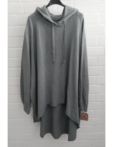 XXXL Big Size Hoodie Sweat Shirt langarm grau grey Baumwolle Onesize 38 - 50