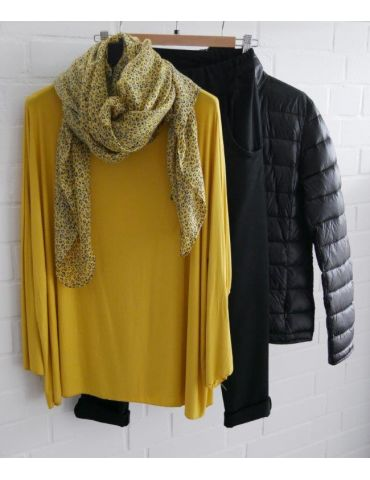 Leichter XL Damen Schal Tuch gelb hellgrau...