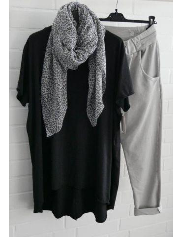 Leichter XL Damen Schal Tuch hellgrau schwarz...