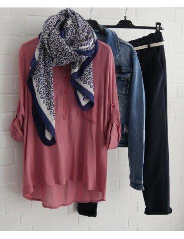 Leichter XL Damen Schal Tuch weiß dunkelblau...