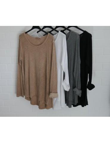 ESViViD Damen Shirt A-Form langarm schwarz oliv...