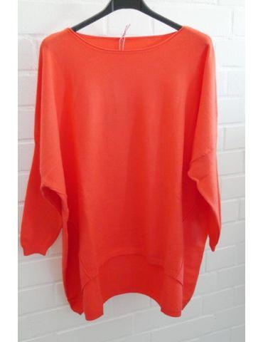 ESViViD Damen Pullover orange Rundhals Onesize 38 - 46 mit Viskose 2232