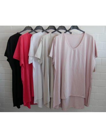 Damen Shirt A-Form kurzarm schwarz black...