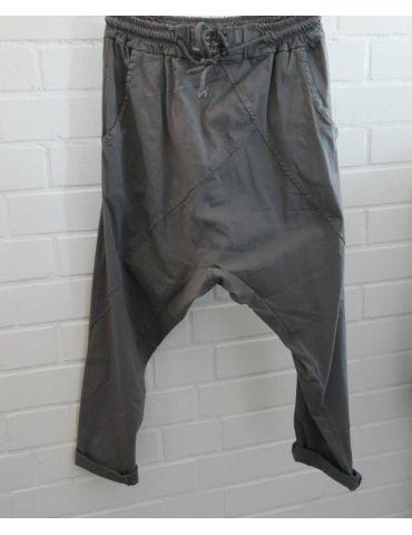 Bequeme Sportliche Damen Hose Baggy grau grey mit Lyocell Onesize 38 40