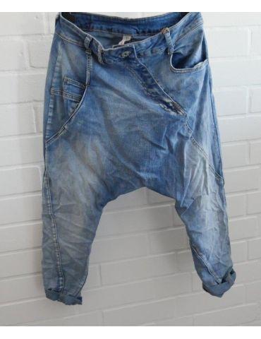 Bequeme Sportliche Damen Jeans Baggy blau verwaschen