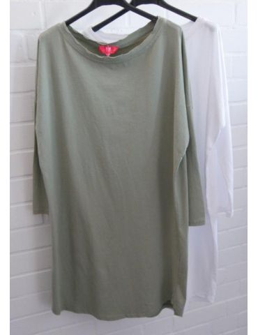 Damen Tunika Shirt langarm schmal helloliv...