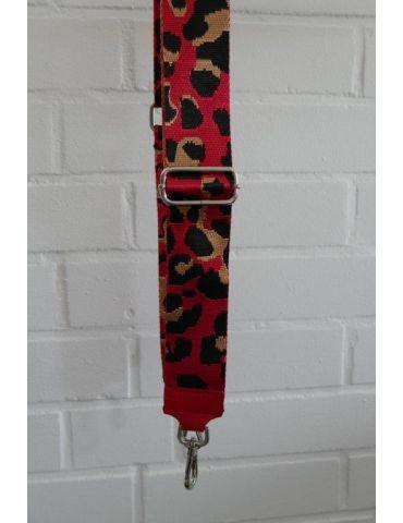 Taschen Gurt Handtasche Gürteltasche rot schwarz camel Leo Glanz