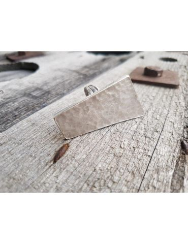 Ring Damenring Metall altsilber silber eckig verstellbar