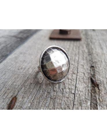 Ring Damenring Metall altsilber silber rund verstellbar