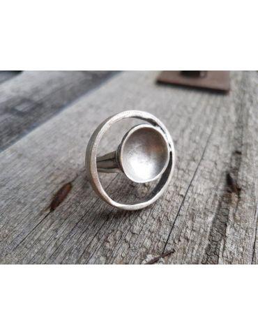 Ring Damenring Metall altsilber silber Kreis verstellbar