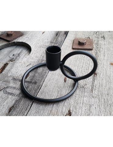 Kerzenständer Ring Metall schwarz black rund