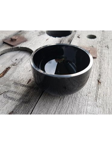 Glasschale Teelicht Kerzenhalter schwarz black