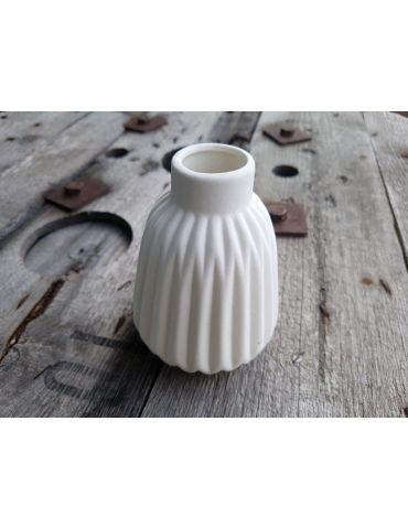 Vase Blumenvase Keramik Porzellan weiß white...
