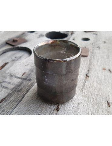 Teelicht Teelichtglas Kerze Glas braun schwarz Muster