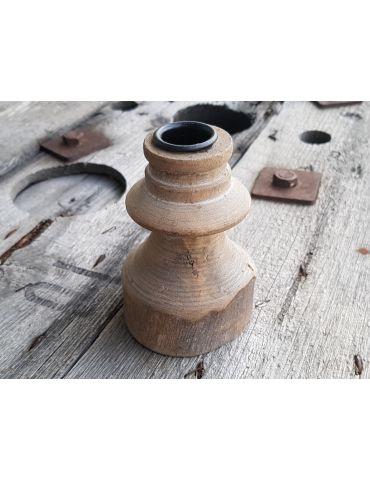 Trendiger Kerzenständer Holz Vintage Unikat 11 cm