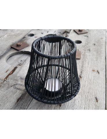 Teelicht Kerze Metall Draht schwarz black