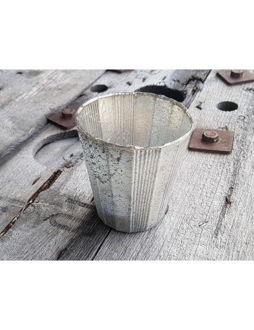 Teelicht Teelichtglas Kerze Glas gerade beige...
