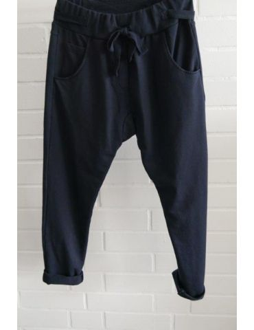 Wendy Trendy Jogginghose JoggPants Damenhose Hose dunkelblau durchgefärbt mit Verstellband