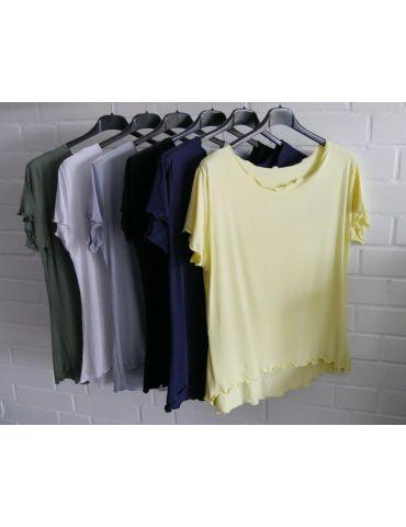 Damen Shirt kurzarm gelb yellow mit Viskose...