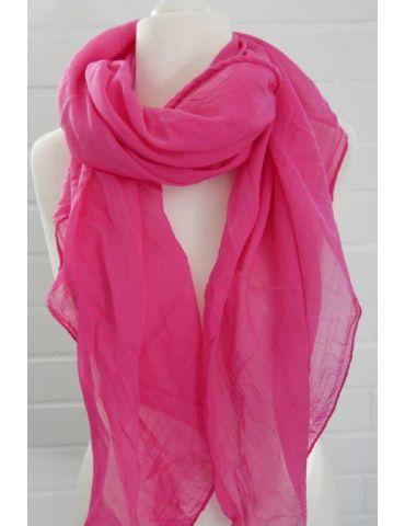 Schal Tuch Loop Made in Italy Seide Baumwolle pink uni