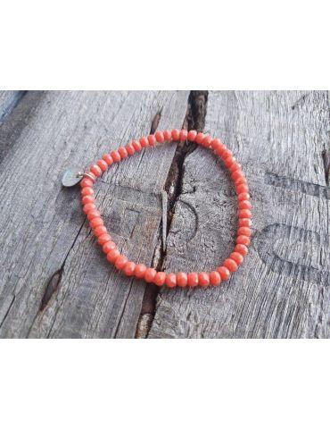 Bijoux Armband Kristallarmband Perlen orange klein Glitzer Schimmer elastisch