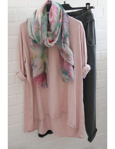 Leichter XL Damen Schal Tuch hellgrau pink grün...