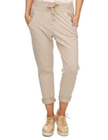 Wendy Trendy Jogginghose JoggPants Damenhose Hose beige durchgefärbt