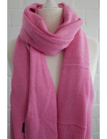 XXL Schal Tuch Stola Poncho mit Kaschmir pink uni Made in Italy