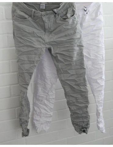 Xuna Jeans Hose Damenhose weiß white...