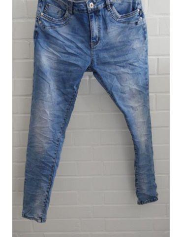 Jewelly Damen Jeans Hose heller blau verwaschen mit Baumwolle