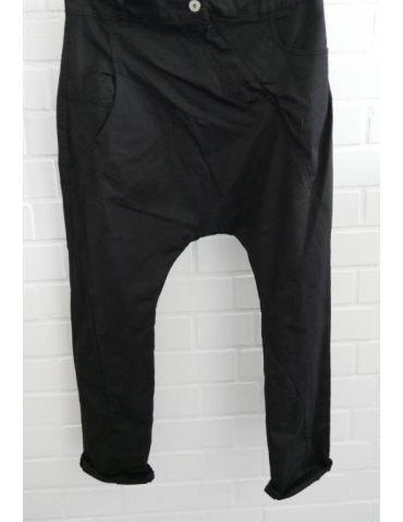 Bequeme Sportliche Damen Baggy schwarz black uni verwaschen