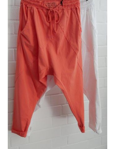 Bequeme Sportliche Damen Hose Baggy orange mit...