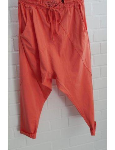 Bequeme Sportliche Damen Hose Baggy orange mit Lyocell Onesize 38 40
