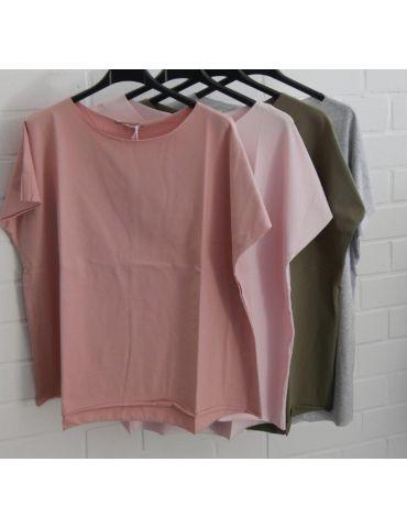 Damen Shirt kurzarm rose rosa mit Baumwolle...
