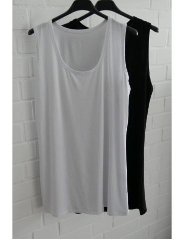 Damen Basic Top Shirt weiß white mit Viskose...