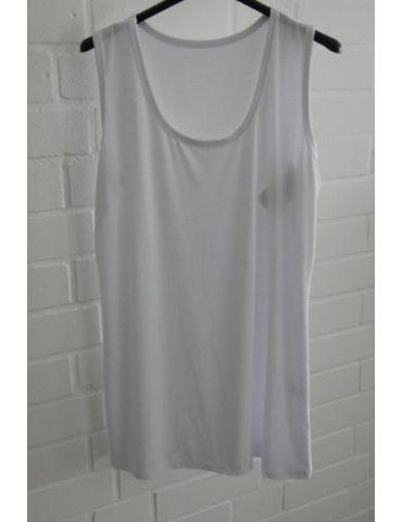 Damen Basic Top Shirt weiß white mit Viskose Onesize 38 - 42