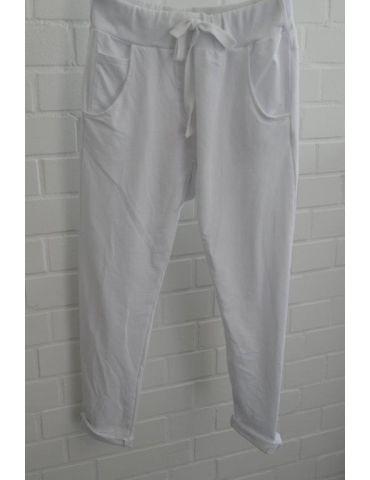 Wendy Trendy JogPants Jogginghose Damenhose Hose weiß white