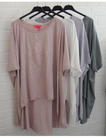 XXXL Big Size T- Shirt kurzarm rose rosa 3D...
